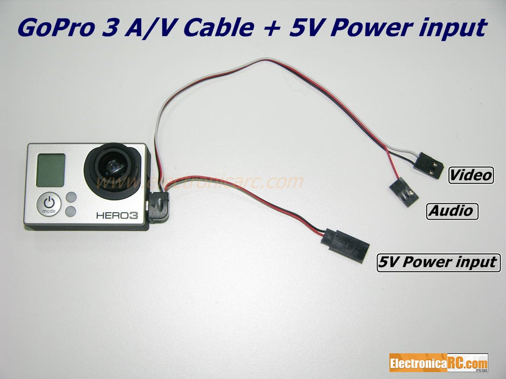 Gopro Cables Amp Accesories Gopro Hero 3 Av Cable 5v Power