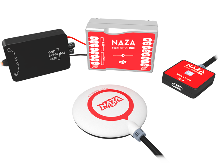 <b> Dji NAZA Lite + GPS </b> estabilizador para Multicopteros