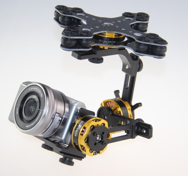 EASY Gimbal 3-Axis Brushless <b> RTF </b>, for Sony Nex7, Nex5,