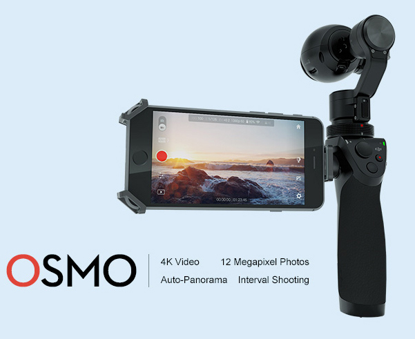 <b>OSMO DJI</b> Fully stabilized 4K. <b> with External Microphon